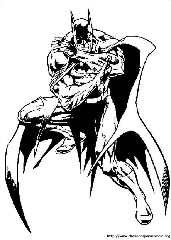 Batman Para Colorir