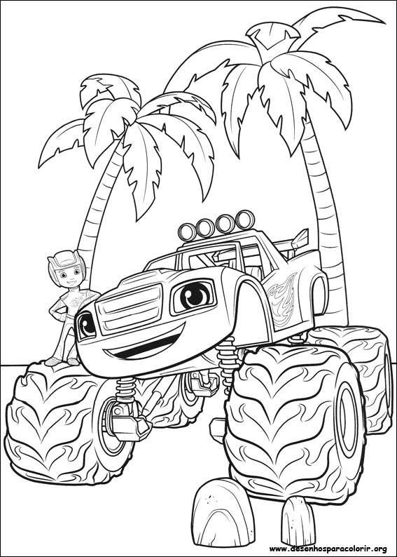 Blaze e as monster machines para colorir for Printable blaze coloring pages