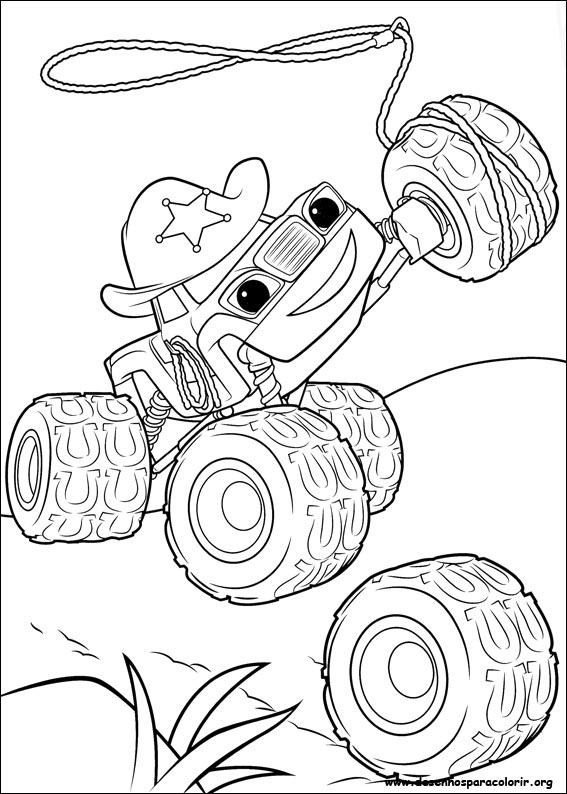 Blaze E As Monster Machines Para Colorir