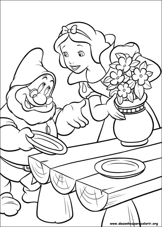 Desenhos Do Branca De Neve Para Colorir