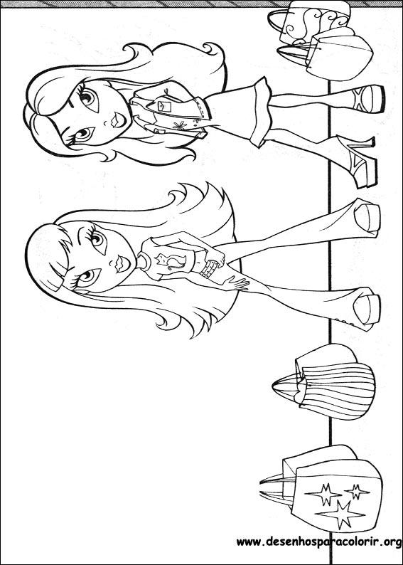 bratz-30 Desenhos do Bratz para colorir