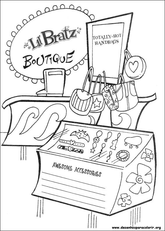 bratz-68 Desenhos do Bratz para colorir
