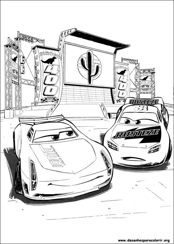 Desenhos Do Carros 3 Para Colorir