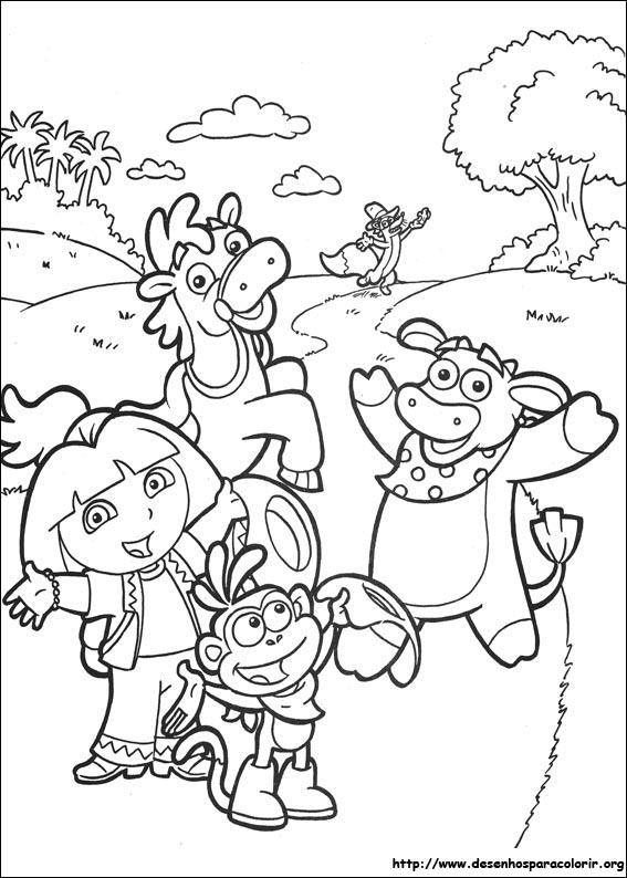 Dora A Aventureira Para Colorir