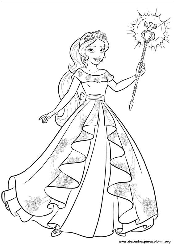 Desenhos Do Elena De Avalor Para Colorir