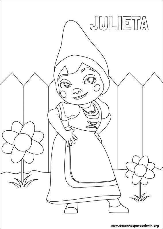 Desenhos Do Gnomeu E Julieta Para Colorir