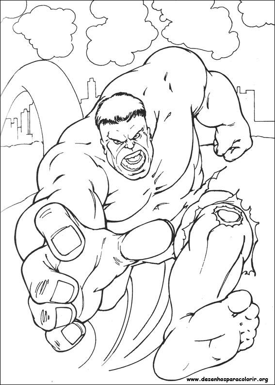 Hulk Para Colorir