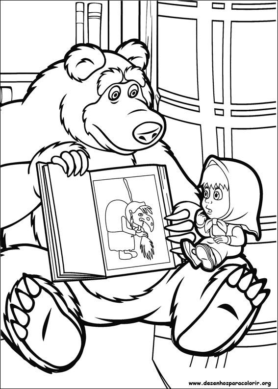 Desenhos Do Masha E O Urso Para Colorir