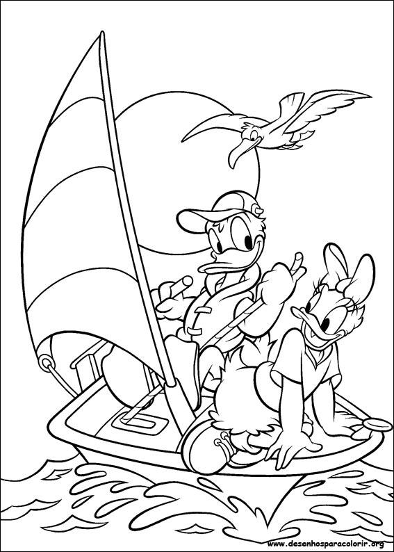 Desenhos Do Pato Donald Para Colorir