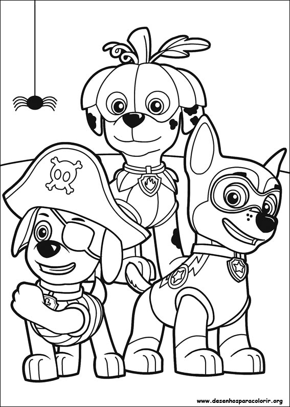 Desenhos Do Patrulha Canina Para Colorir