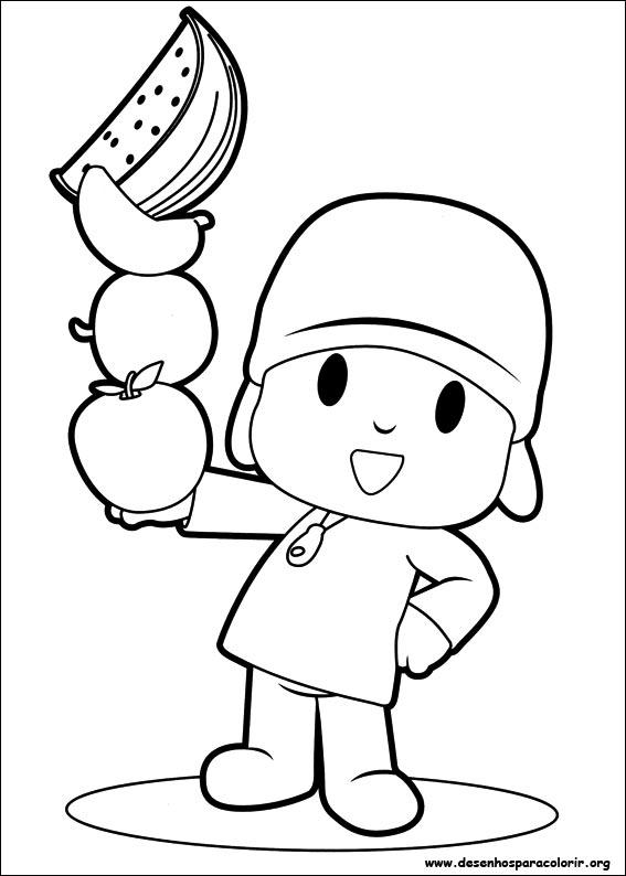 Desenhos Do Pocoyo Para Colorir