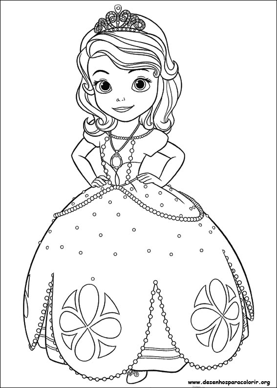 Desenhos Do Princesinha Sofia Para Colorir
