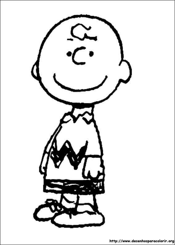 Snoopy Para Colorir