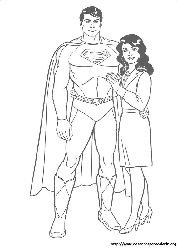 Superman Para Colorir