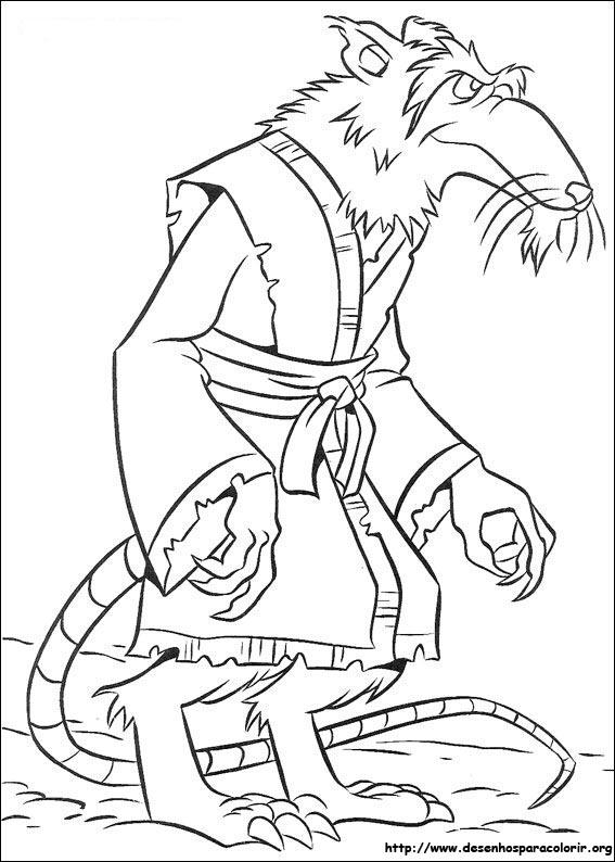 Desenhos Do Tartarugas Ninja Para Colorir