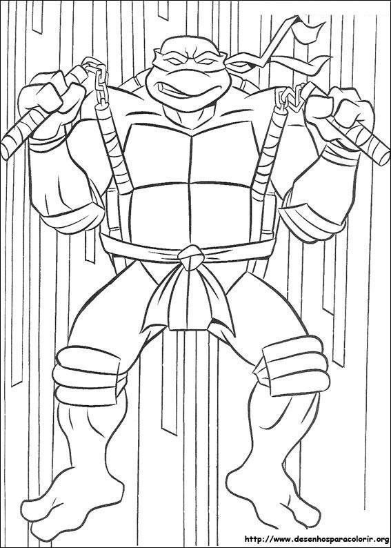 Tartarugas Ninja Para Colorir