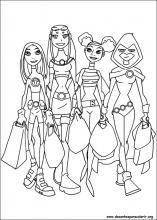 Desenhos Do Teen Titans Os Jovens Titans Para Colorir