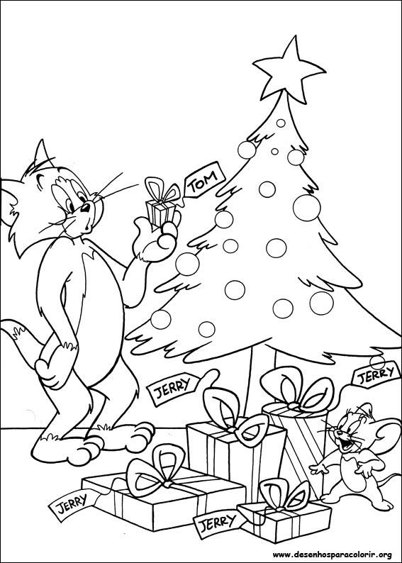 Desenhos Do Tom E Jerry Para Colorir