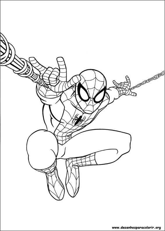 Ultimate Homem Aranha Para Colorir